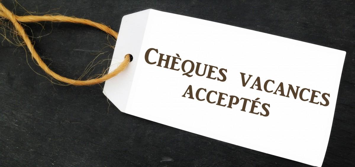 chques vacances accepts sur tiquette sur ardoise